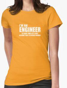 Engineer Funny Geek Nerd Womens Fitted T-Shirt