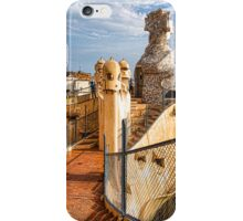 Gaudi's Fascinating Rooftop – Impressions Of Barcelona iPhone Case/Skin