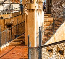 Gaudi's Fascinating Rooftop – Impressions Of Barcelona Sticker