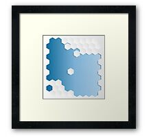 Abstract Hexagon Background Framed Print