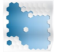 Abstract Hexagon Background Poster