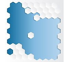 Abstract Hexagon Background Photographic Print