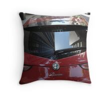 Framed in Red Throw Pillow
