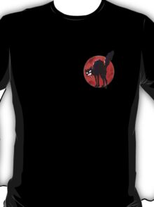 angry black cat against the world T-Shirt