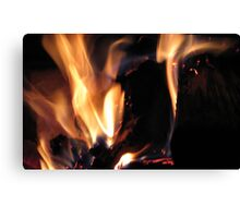 Fire Softly Burnin' Canvas Print
