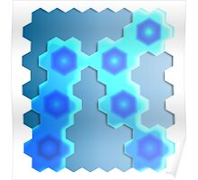 Abstract Hexagon Background 2 Poster
