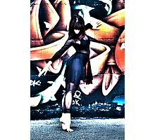 The girl in black Photographic Print