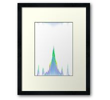 glitch chandelure Framed Print