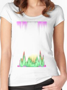 glitchy witchy  Women's Fitted Scoop T-Shirt