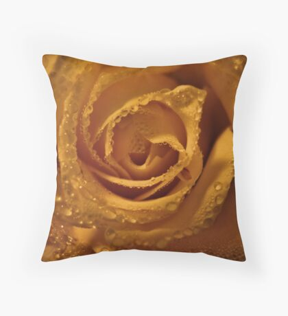 Layers of Sunshine and Dew Throw Pillow
