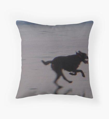 Running Dog Throw Pillow