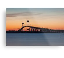 Newport Bridge Sunset, Rhode Island Metal Print
