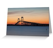 Newport Bridge Sunset, Rhode Island Greeting Card