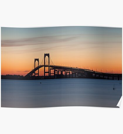 Newport Bridge Sunset, Rhode Island Poster