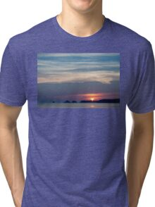Summer Sunset Silhouette Tri-blend T-Shirt