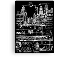 City Limits (White) Canvas Print