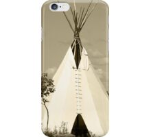 Tepee in the Prairies iPhone Case/Skin