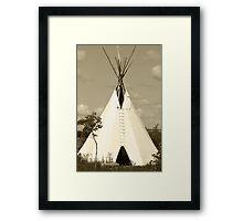Tepee in the Prairies Framed Print