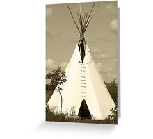 Tepee in the Prairies Greeting Card