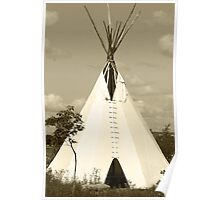 Tepee in the Prairies Poster