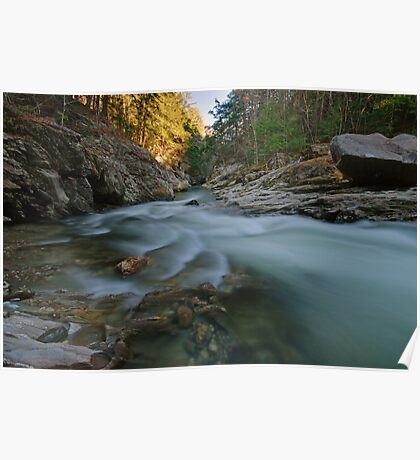 Lower Gorge - View Downstream Poster