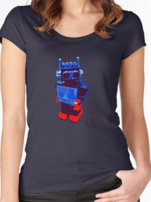 Techno Robot Women's Fitted Scoop T-Shirt
