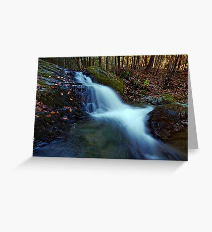 Small Falls Along Sherman Hollow Brook Greeting Card