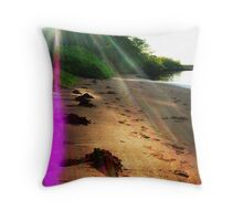 Cosmic Sunrays Throw Pillow