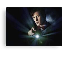 Doctor Who Matt Smith 11 Canvas Print