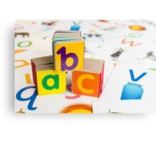 Alphabet Blocks Canvas Print