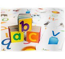Alphabet Blocks Poster