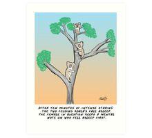 Koala Cartoon- The Mating Game Art Print