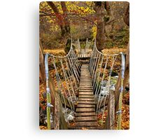 """Autumnal crossing on the """"Path of Love"""" Canvas Print"""