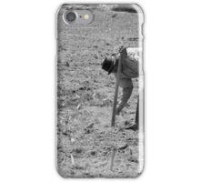 Farmer Tilling a Field iPhone Case/Skin