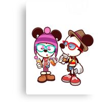 Mickey and Minnie Canvas Print