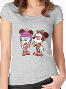 Mickey and Minnie Women's Fitted Scoop T-Shirt