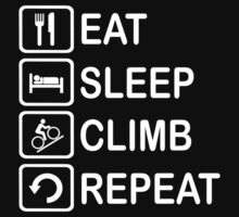 Eat Sleep Climb Repeat Cycling Funny Shirt T-Shirt