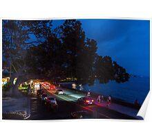 Kailua Kona, Hawaii in night Poster