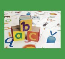 Alphabet Blocks One Piece - Short Sleeve