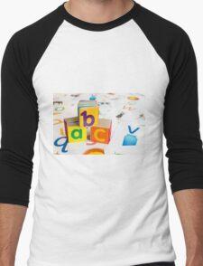 Alphabet Blocks Men's Baseball ¾ T-Shirt