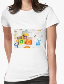 Alphabet Blocks Womens Fitted T-Shirt