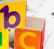 Alphabet Blocks Sticker