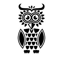 Black owl design Photographic Print