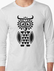 Black owl design Long Sleeve T-Shirt