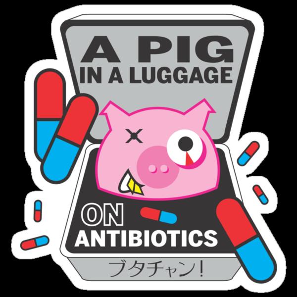 PIG IN A LUGGAGE ON ANTIBIOTICS by Tiffany Atkin