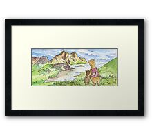 Hiking Bears Framed Print