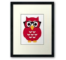 Geek nerd owl Framed Print