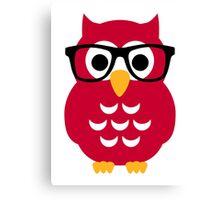 Geek nerd owl Canvas Print