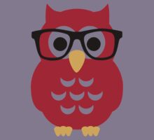 Geek nerd owl Kids Tee