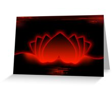 Red Love Lotus Greeting Card